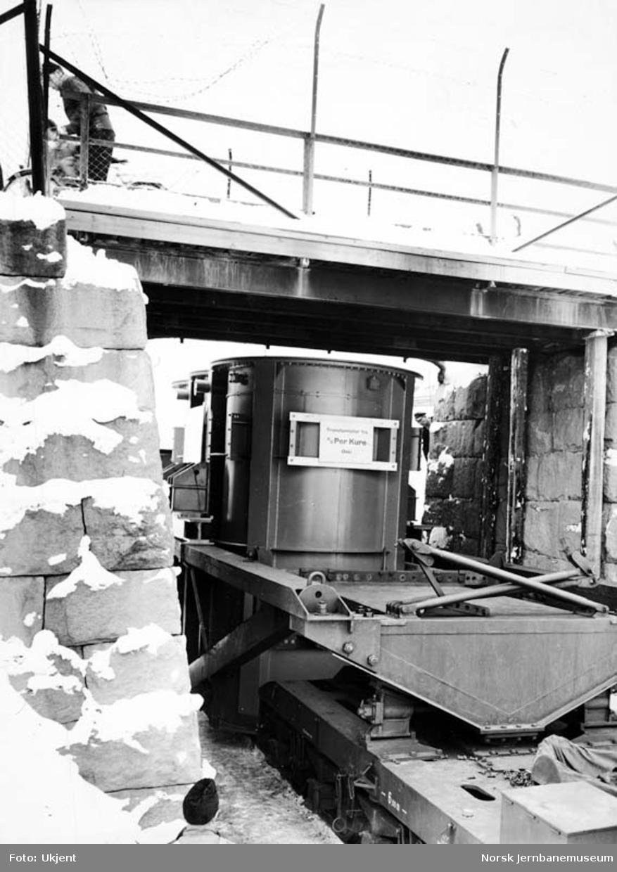 Transport av transformator med spesialvogn litra Trqo nr. 16000