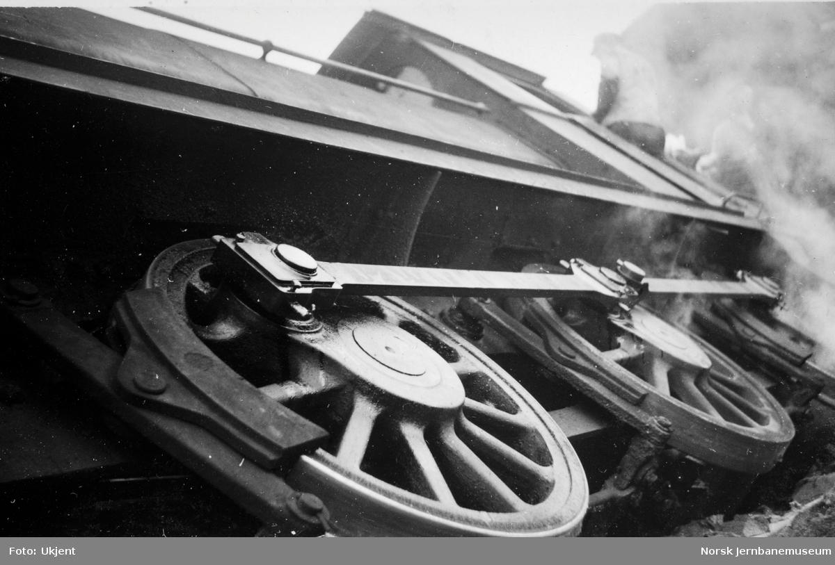 Mo i Rana stasjon : veltet damplokomotiv på Militærsporet, Mo i Rana st.