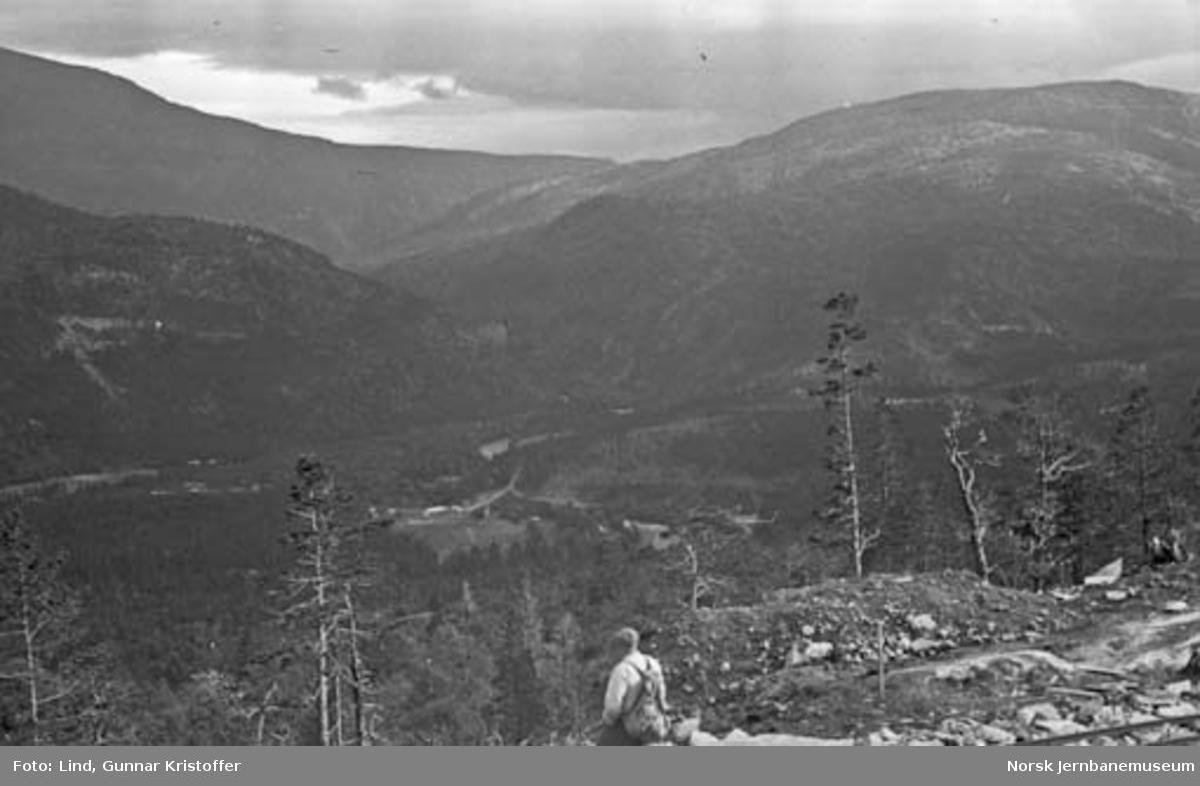 Nordlandsbaneanlegget : utsikt mot Storjord og Junkerdalen