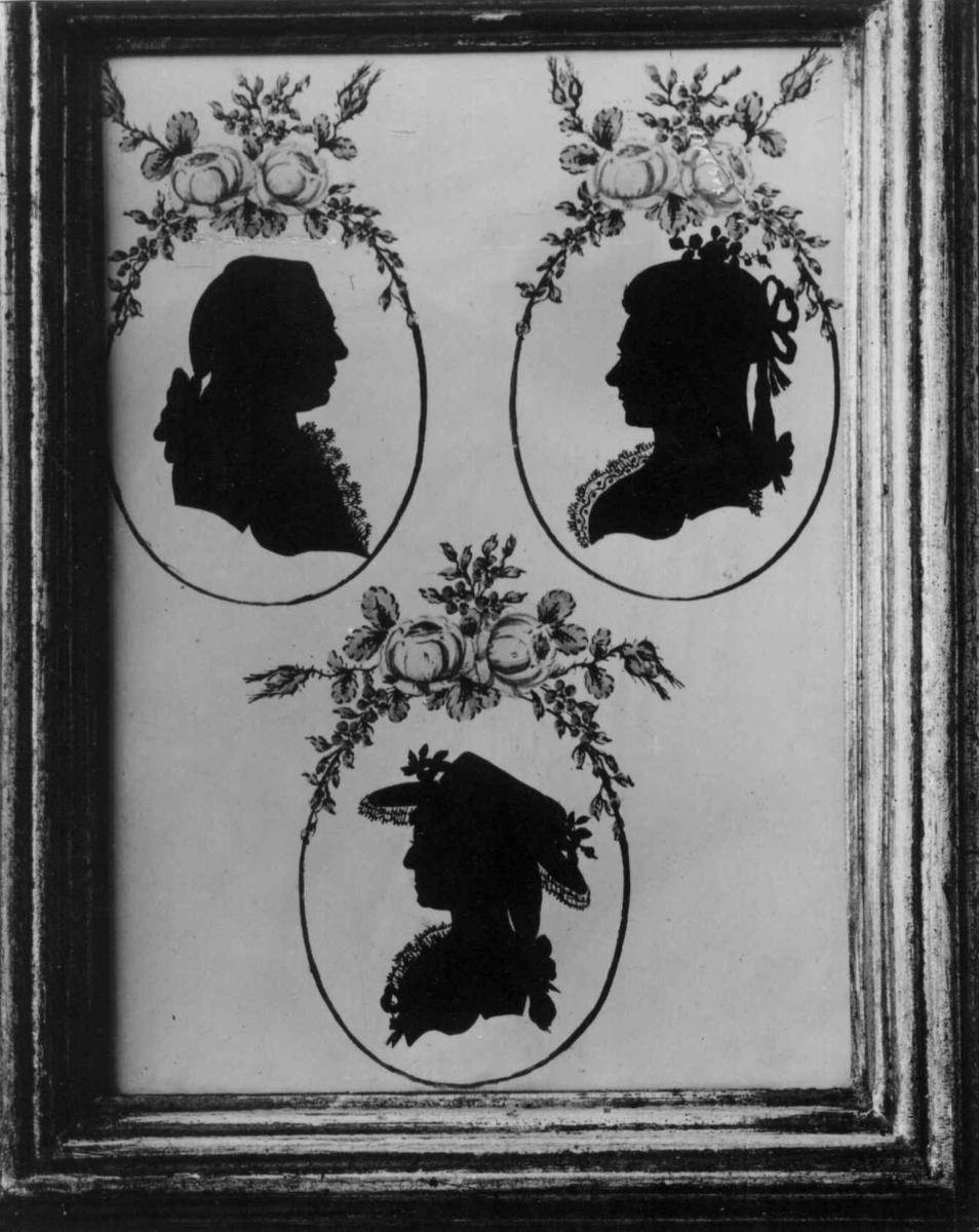 Dame- og herreportrett, ukjent, silhouett
